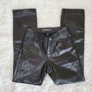 "2000 Gap Boot Cut Leather Pants Sz 1 XS 26"" Waist"